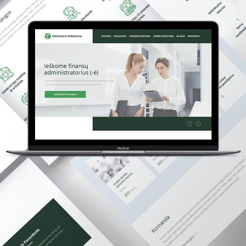 unikalaus web dizaino kurimas